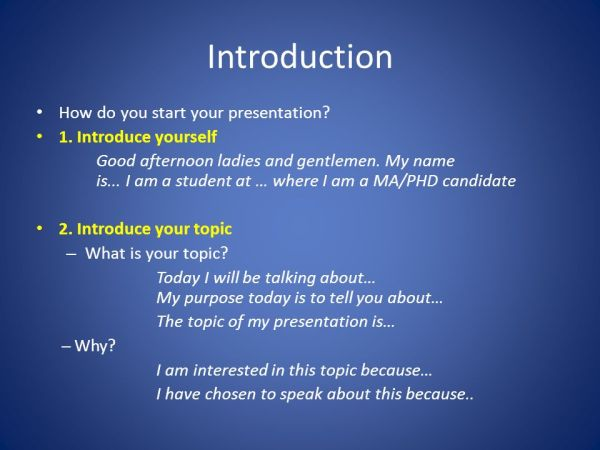 how to start a presentation # 2