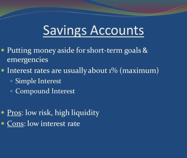 Savings Accounts Putting Money Aside For Short Term Goals Emergencies Interest Rates Are