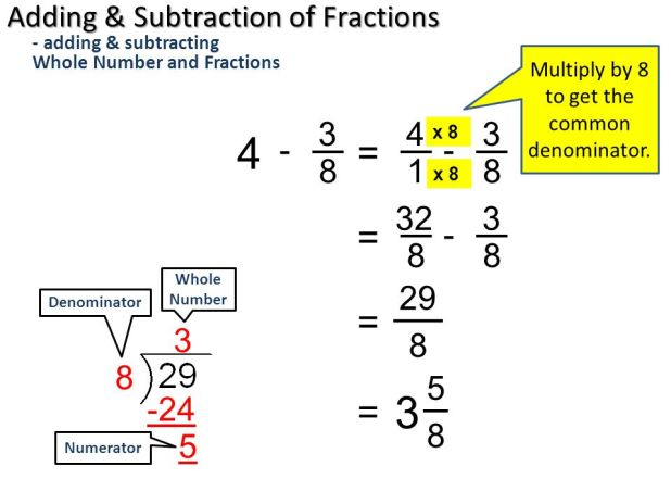 how to find common denominators with 3 numbers