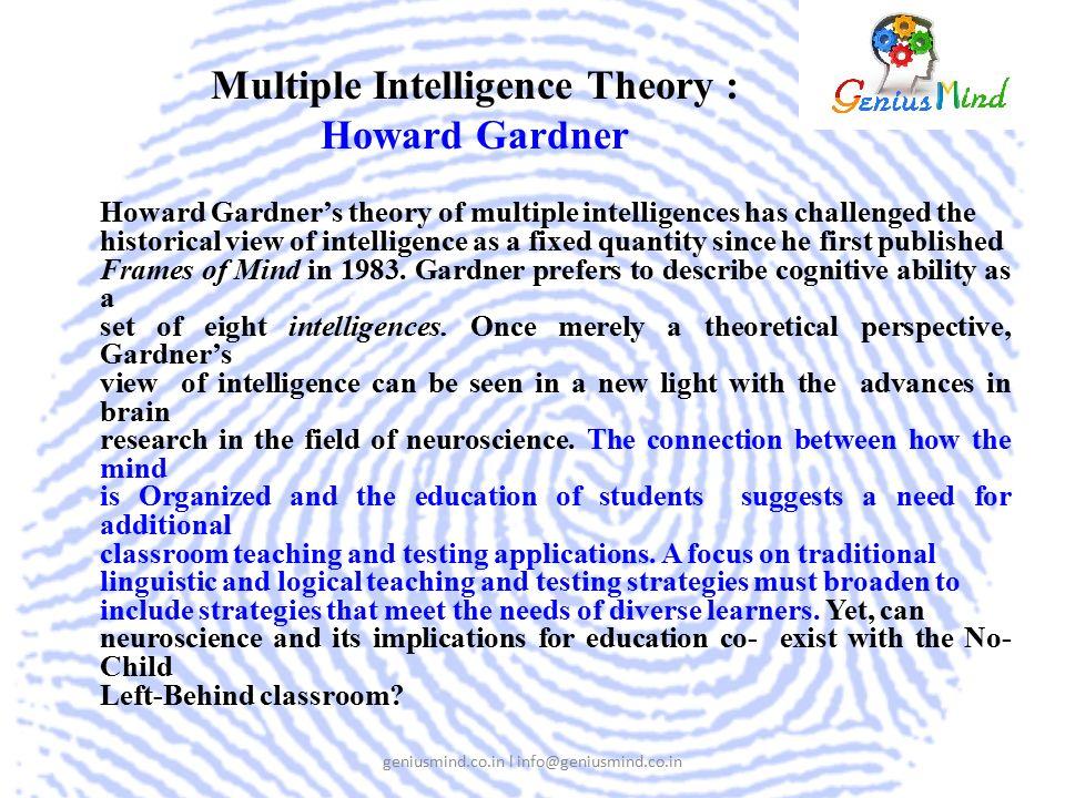 Howard Gardner Frames Of Mind 1983 Publisher   Framess.co