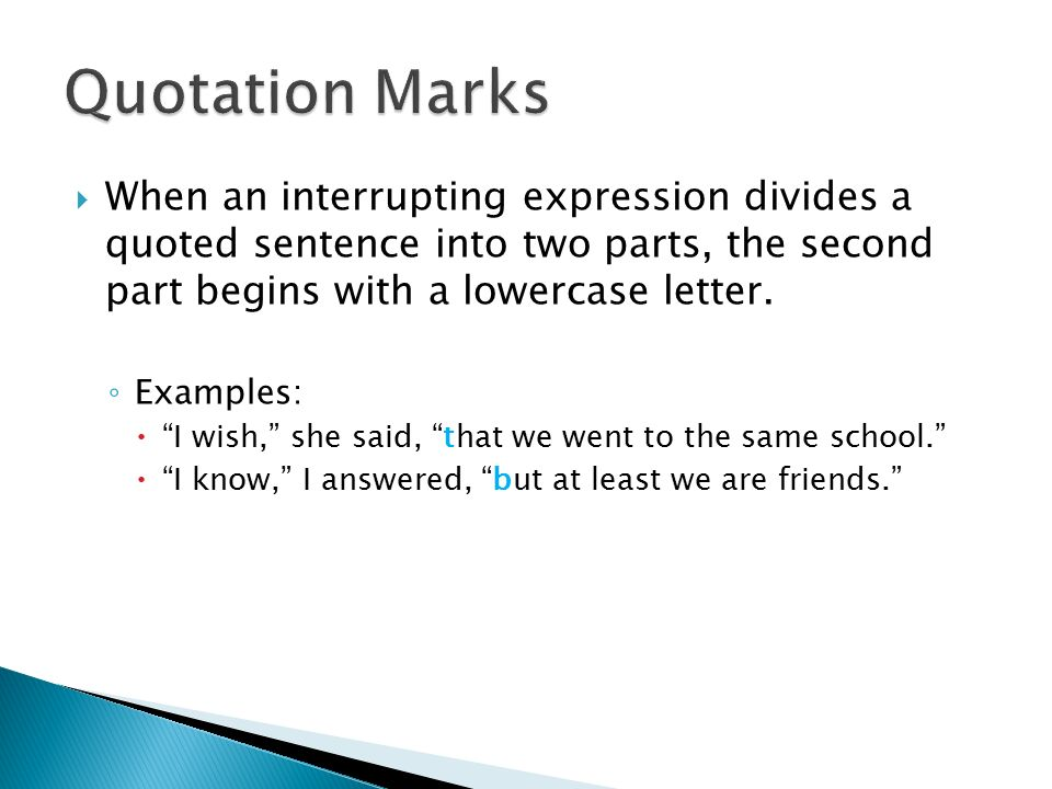 Exclamation Marks Examples