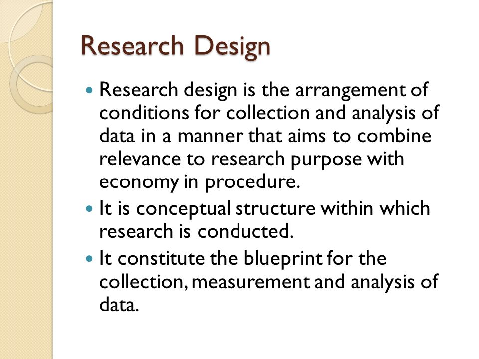 Research Outline Sample