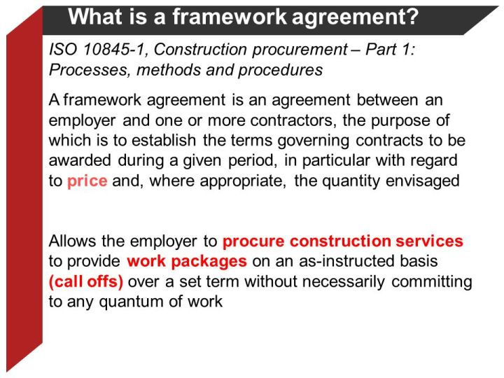 What Is The Difference Between A Framework Agreement And Contract
