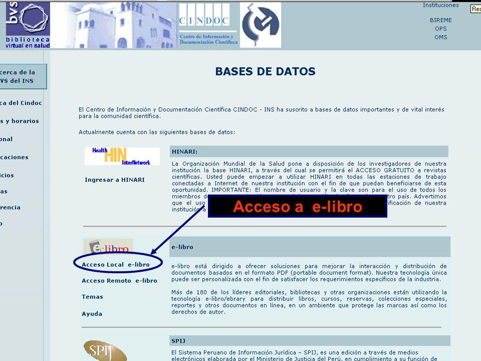 BASE DE DATOS: E-LIBRO.