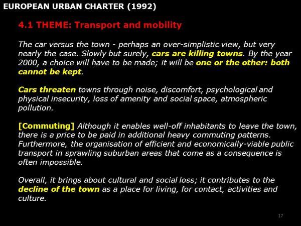 PARA LA CALIDAD DE VIDA URBANA Movilidad, Urbanismo y ...