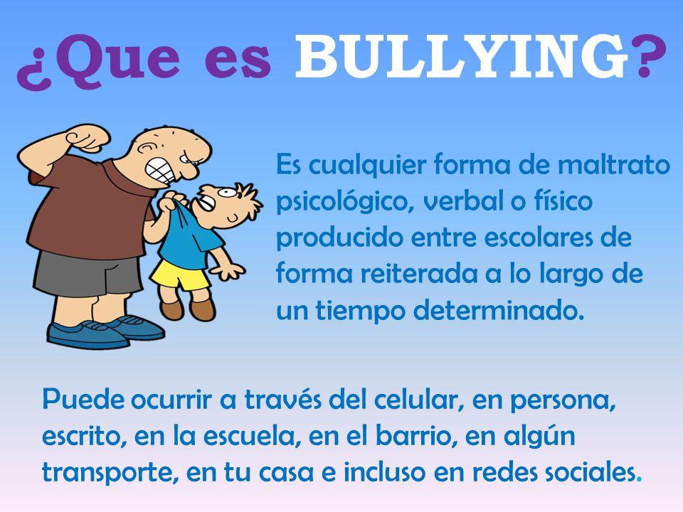 Resultado de imagen para que es bullying