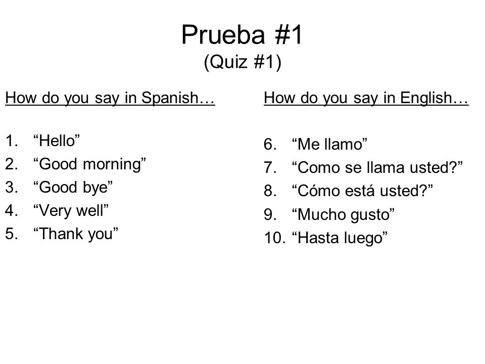 How Do You Say Thats Good Spanish