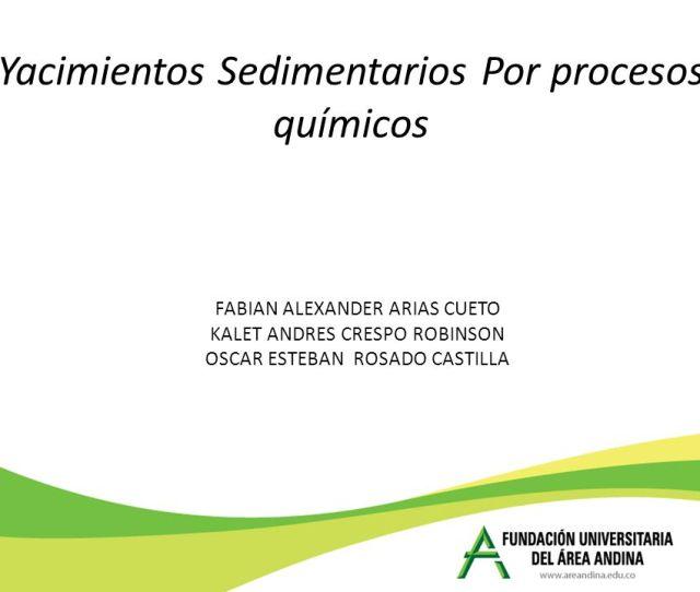 1 Yacimientos Sedimentarios