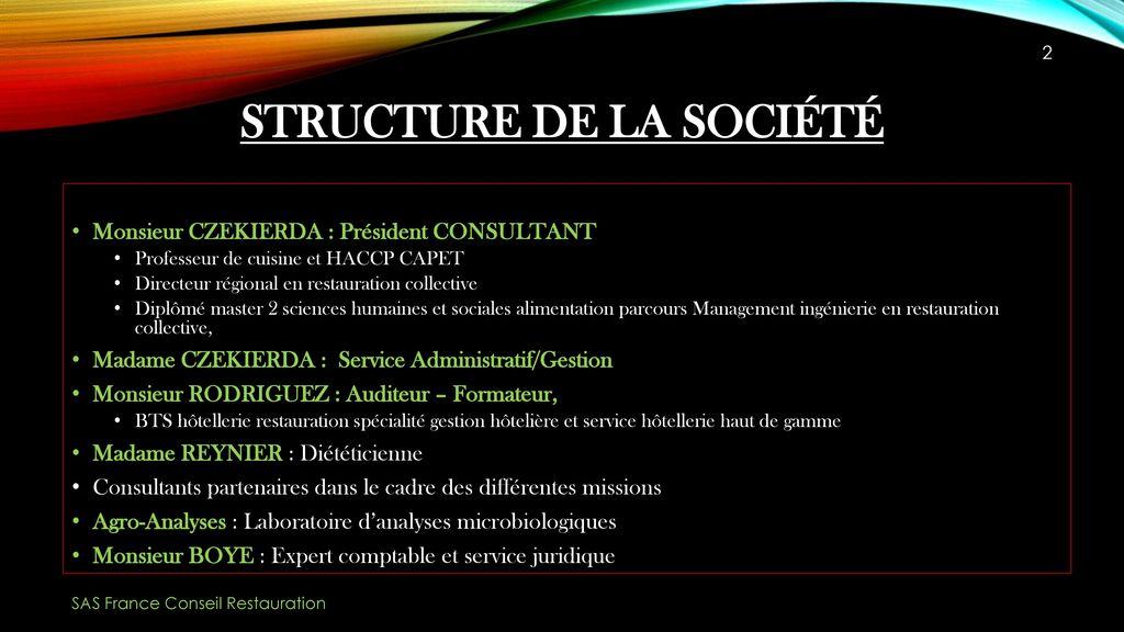 SAS France Conseil Restauration Ppt Video Online Tlcharger