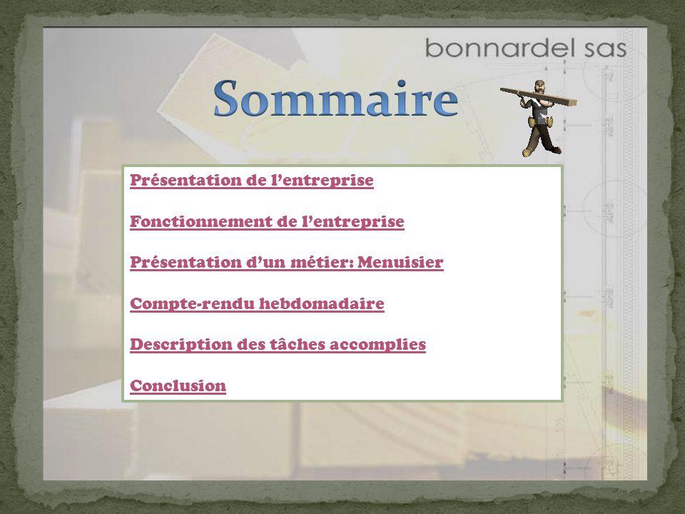 Menuiserie Entreprise Bonnardel Rapport De Stage Ppt