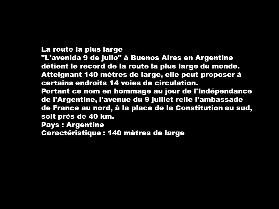 Route Julio Large Aires Monde Argentine 9 La De Plus Du Buenos La