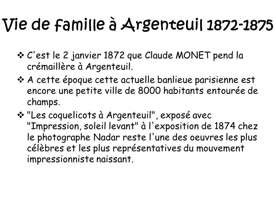 Loeuvre De Monet The Work Of Monet Ppt Video Online