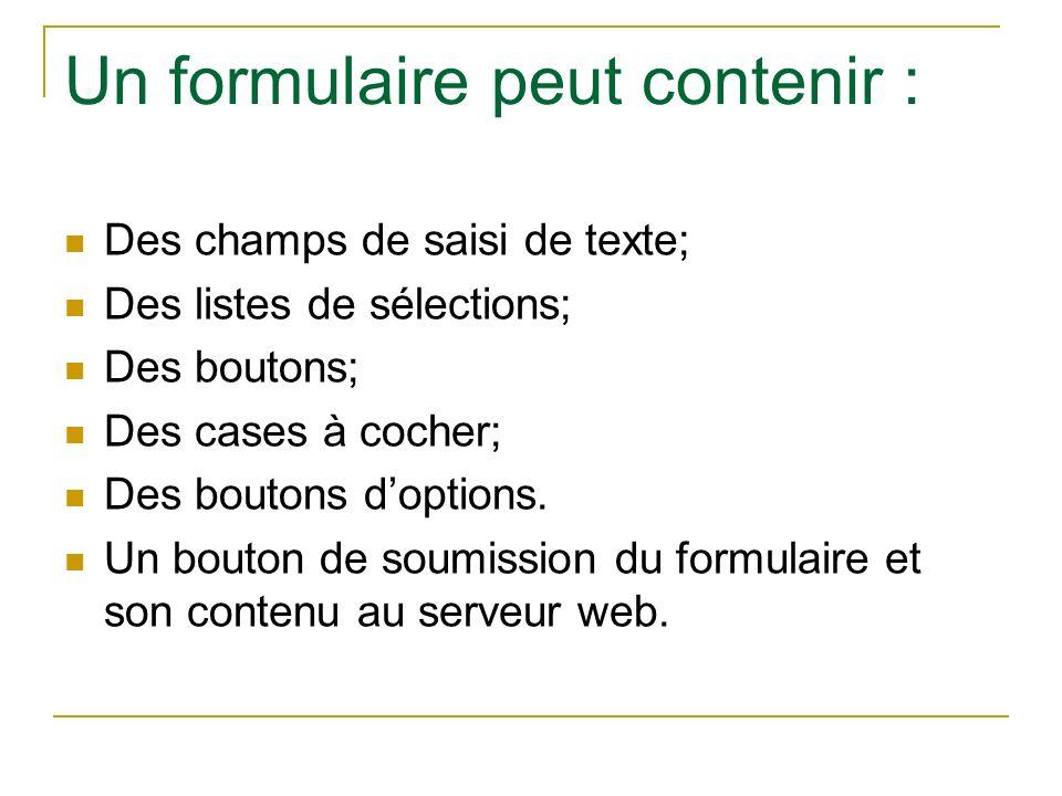 Formulaire HTML Introduction Dfinition De Formulaire