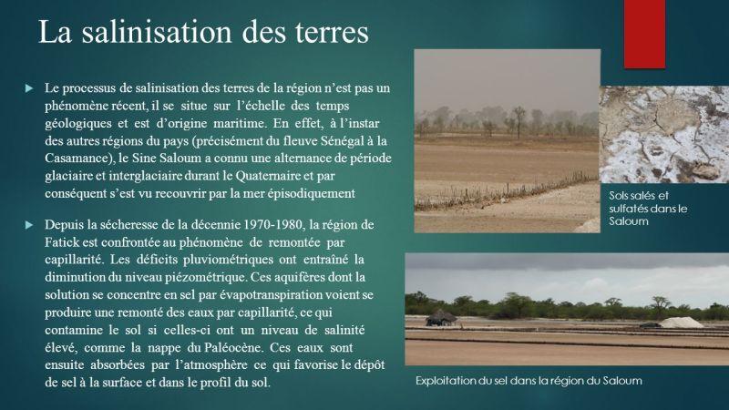 """Résultat de recherche d'images pour """"Salinisation des terre senegal"""""""