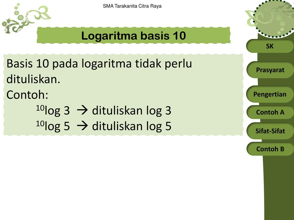 Fungsi eksponen dan fungsi logaritma. Logaritma Alog B X B Ax Ppt Download