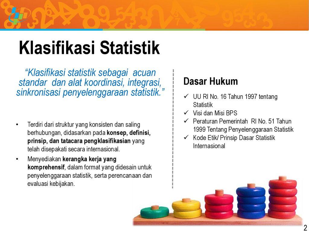 Menyebarkan ilmu merupakan suatu perbuatan yang. Pembangunan Klasifikasi Statistik Indonesia Ppt Download