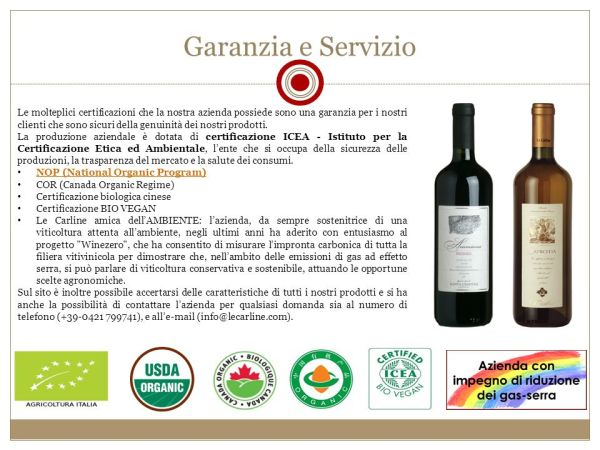 Piano di Marketing Vino LeCarline. - ppt scaricare