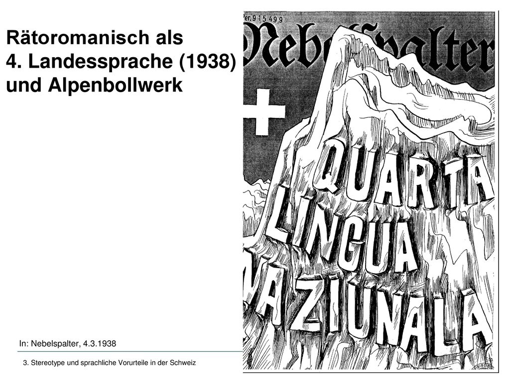 Stereotype Und Sprachliche Vorurteile In Der Schweiz