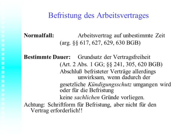 ARBEITSRECHT 2011 Hochschule Merseburg FH ppt