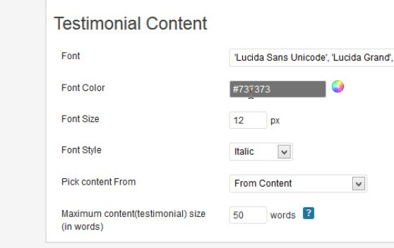 Customize Content of Testimonial Slider