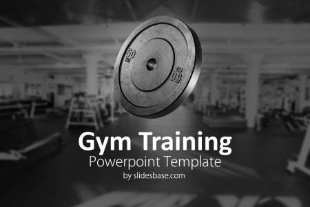 Gym Training Powerpoint Template   Slidesbase gym training workout fitness bodybuilding weights lifting powerpoint