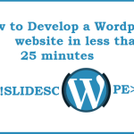 How to create a WordPress website in less than 25 minutes