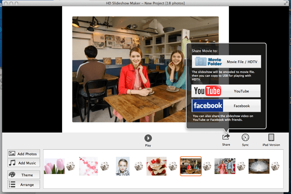 create hd slideshow on macbook