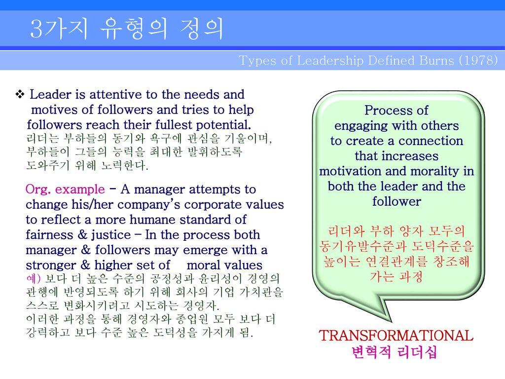 Transformational Leadership Tl Perspective