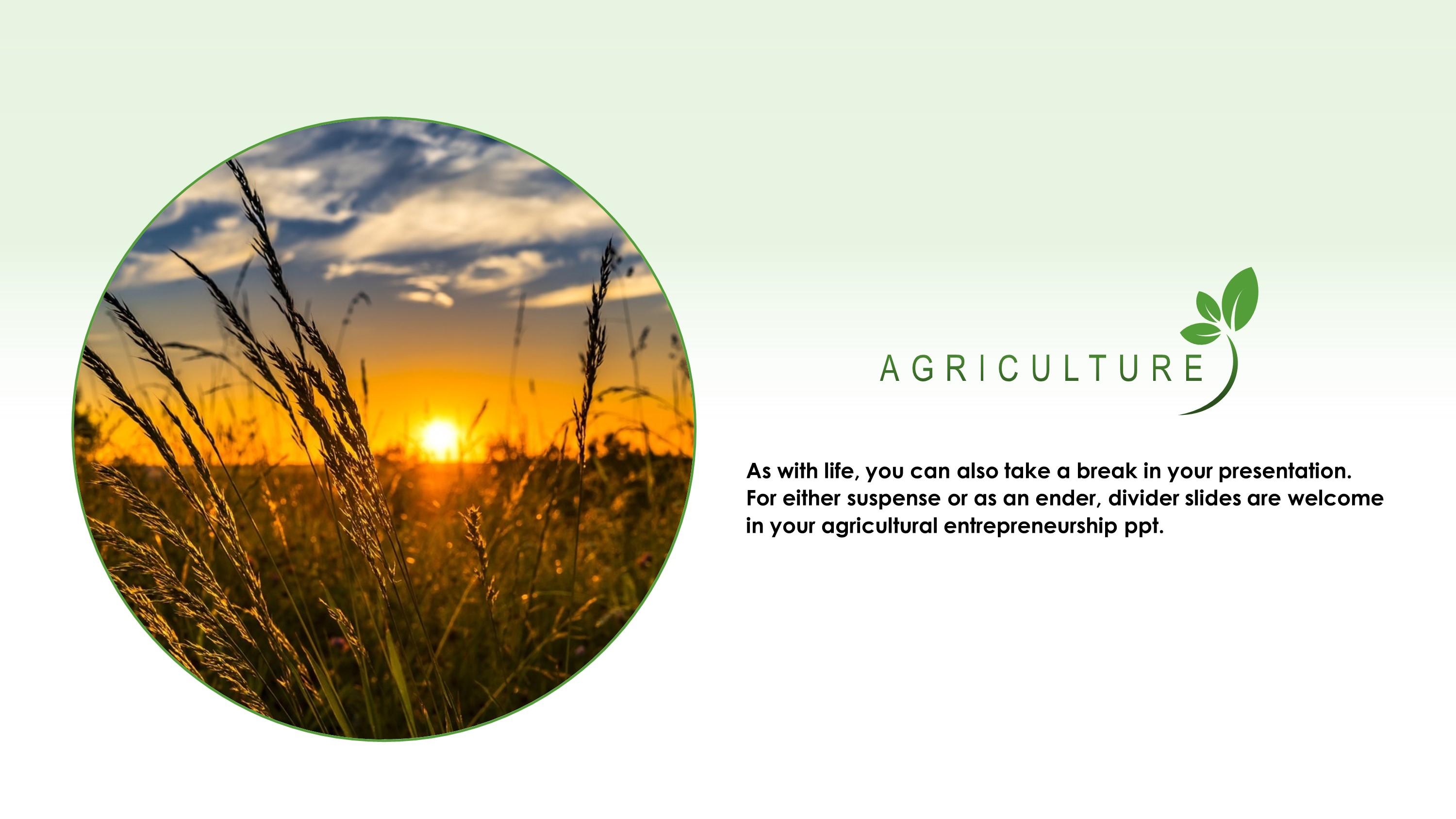 Green Agriculture Premium Powerpoint Template