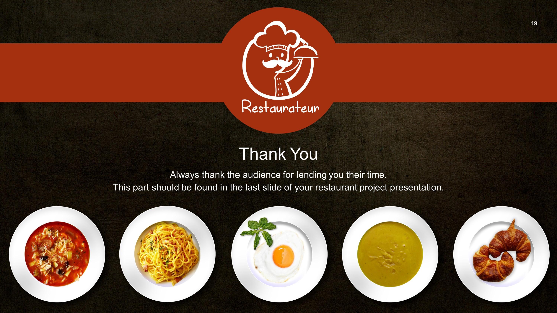 Restaurant Dining Premium Powerpoint Template Slidestore