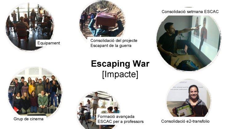 Consolidación semana ESCAC Equipamiento Consolidación del proyecto Escapando de la guerra Escaping War [Impacte]