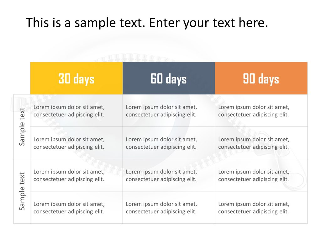 30 60 90 Day Plan Powerpoint Template 1
