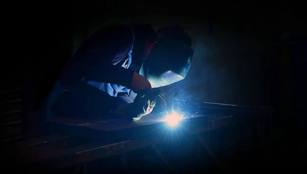 man doing welding