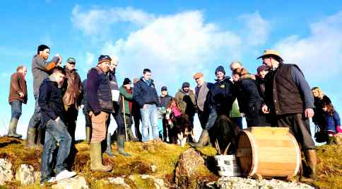 Gathered around the churn at Imbolc 2015