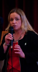 Carol Nolan, Laois County Council, speaks at the Slieve Bloom Association 40th Celebrations in Kinnitty