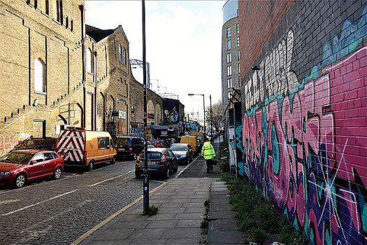 Cambridge Heath graffiti alley