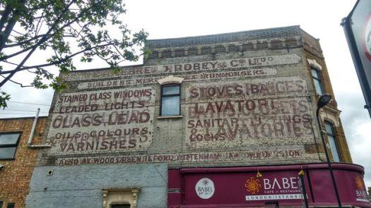 ghost sign on Stoke Newington High Street