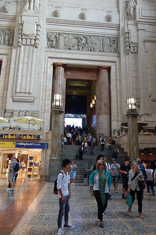 The very grand Milan Centrale station