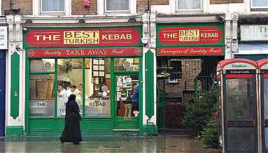 And this Turkish kebab place is accidentally festive!