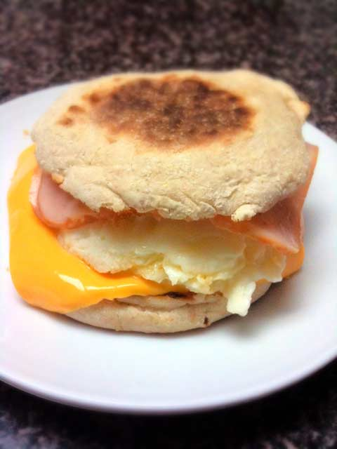 Egg, Ham and Cheese Muffin