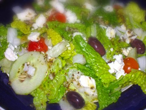 Greek Salad with Soft Goat's Milk Cheese