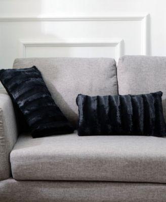 faux fur 12 x 20 throw pillow set