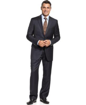 Tasso Elba Suit, Navy Stripe