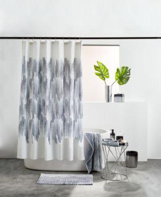 dkny brushstroke ombre shower curtain