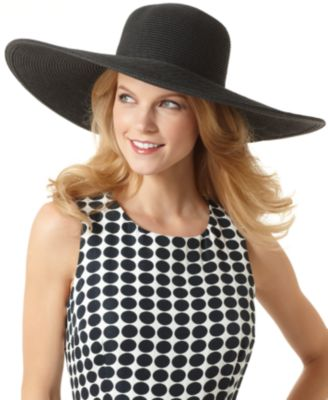Nine West Hat, Packable Straw Super Floppy