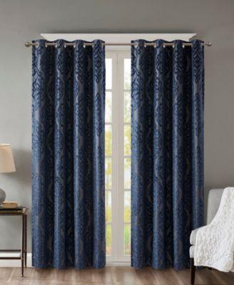 mirage 50 x 84 damask total blackout curtain panel