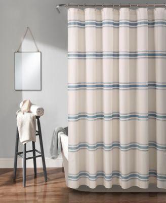 farmhouse stripe 72 x 72 shower curtain