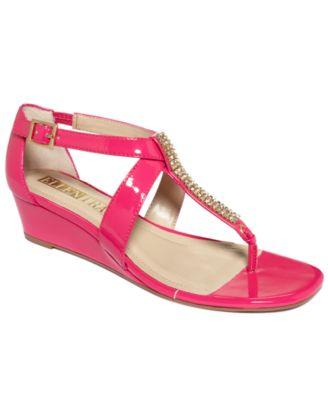 Ellen Tracy Shoes, Alden Wedge Thong Sandals