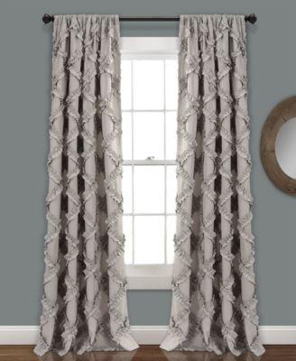 ruffle diamond 54 x 84 curtain set