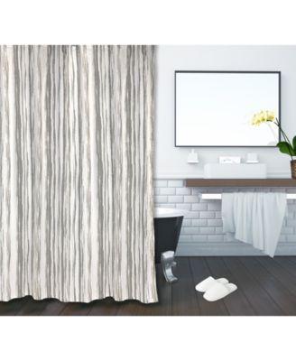 whispering stripe cotton 72 x 72 shower curtain